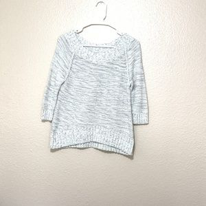 Express womens sweater cream gray Sz small boat